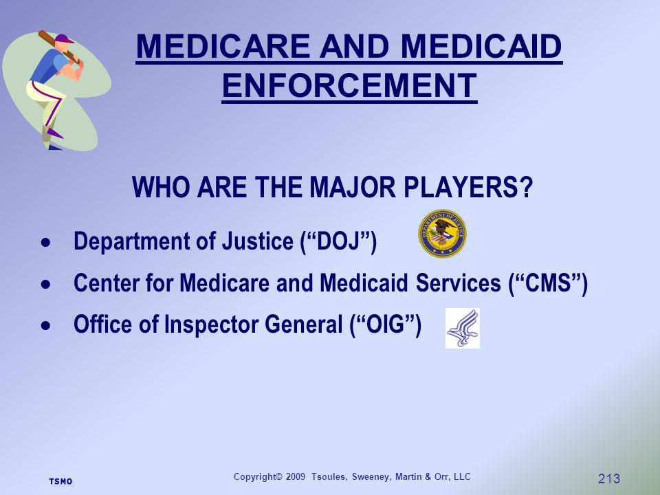 MEDICARE AND MEDICAID ENFORCEMENT