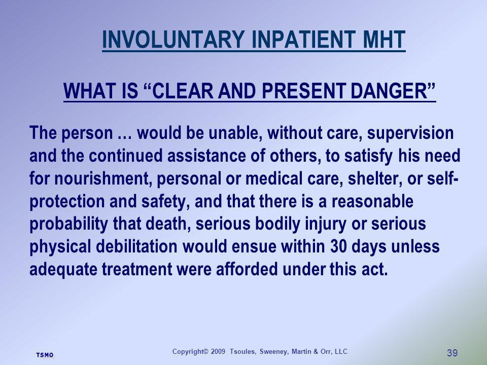 INVOLUNTARY INPATIENT MHT
