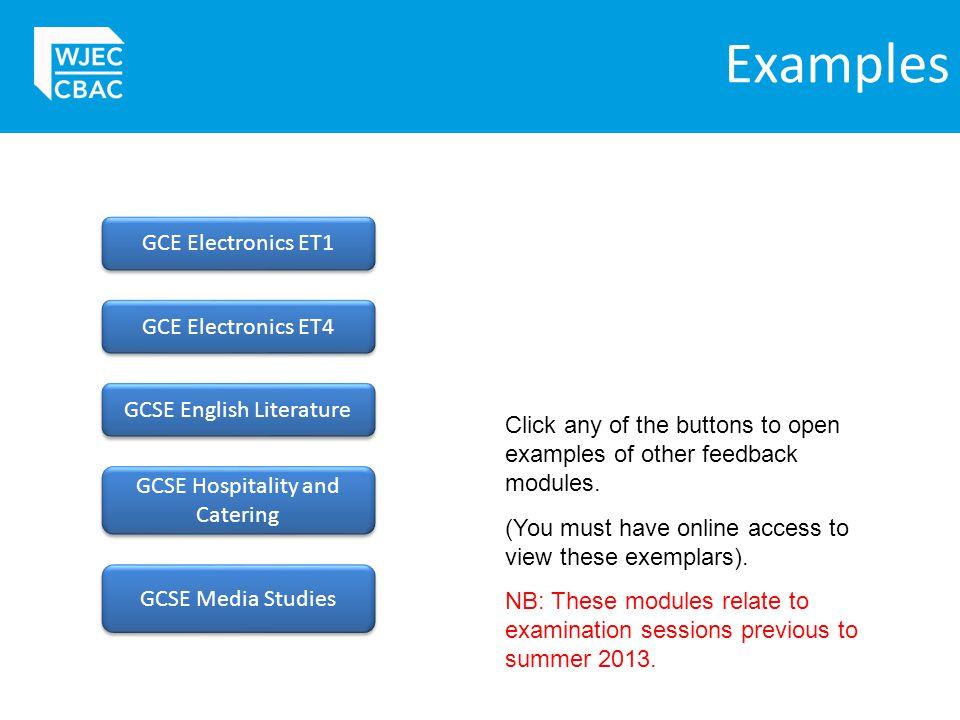 Examples GCE Electronics ET1 GCE Electronics ET4