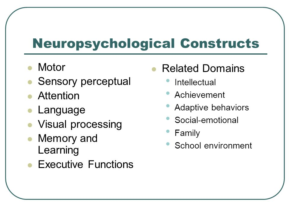Neuropsychological Constructs