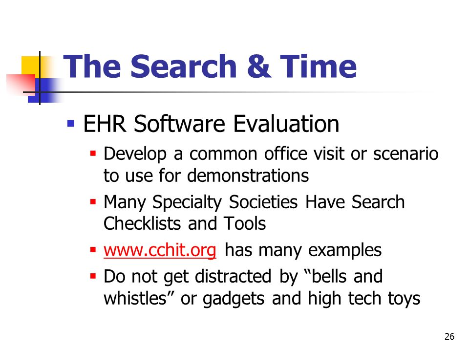 The Search & Time EHR Software Evaluation