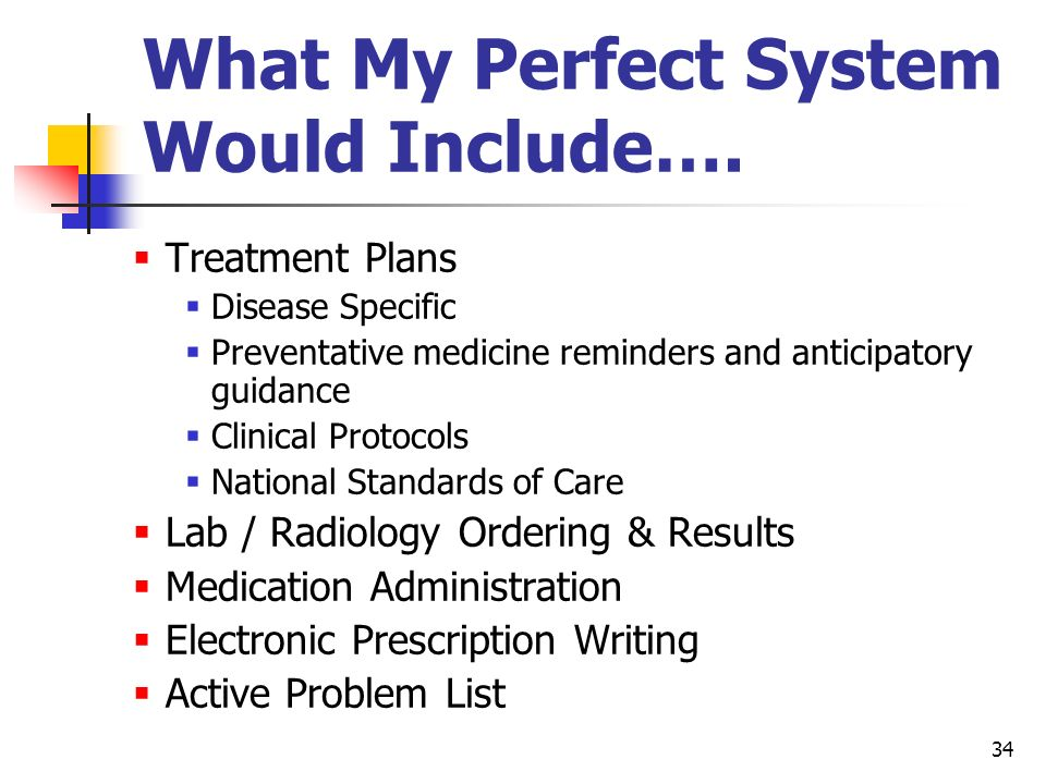 What My Perfect System Would Include….