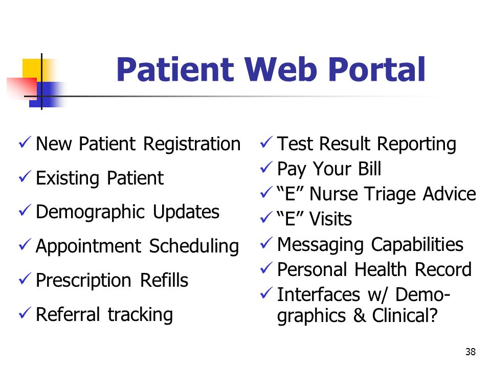 Patient Web Portal New Patient Registration Existing Patient