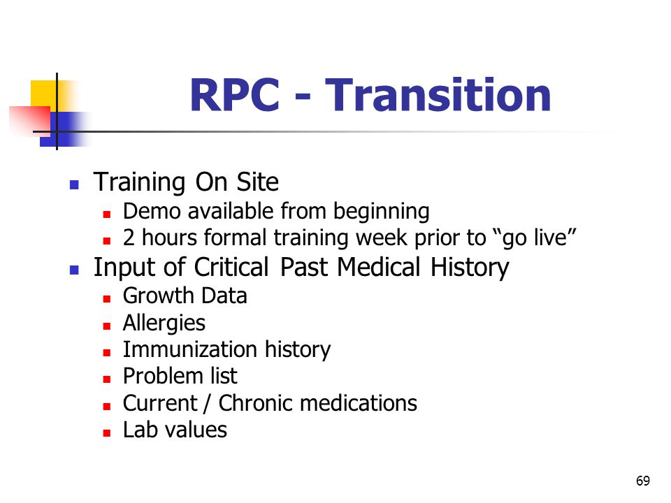 RPC - Transition Training On Site