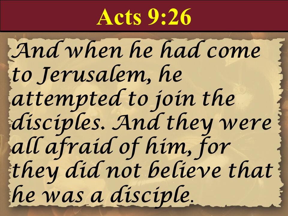 Acts 9:26