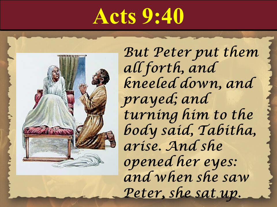 Acts 9:40