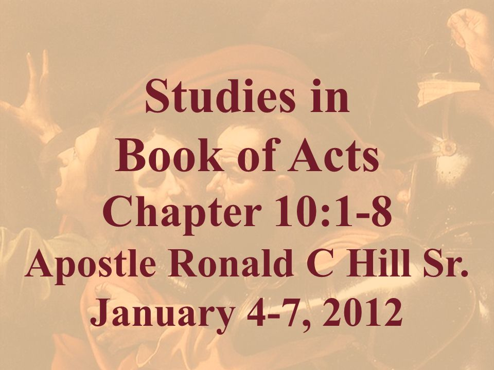 Apostle Ronald C Hill Sr.