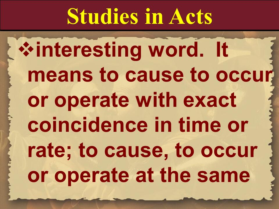 Studies in Acts