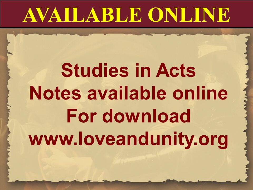 Notes available online