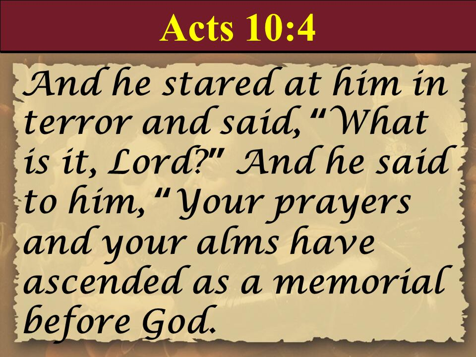 Acts 10:4
