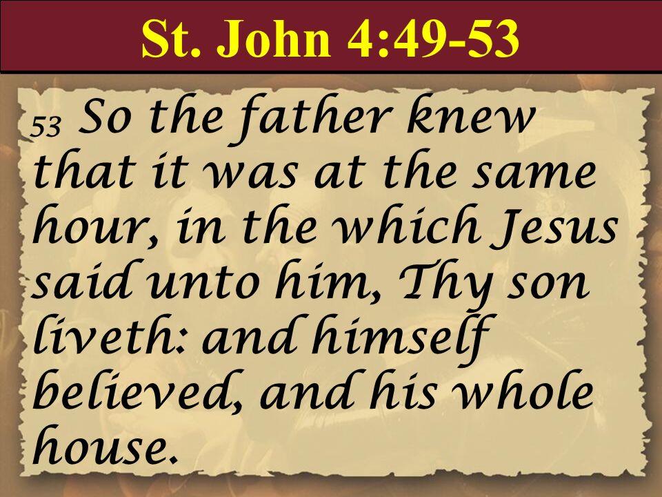 St. John 4:49-53