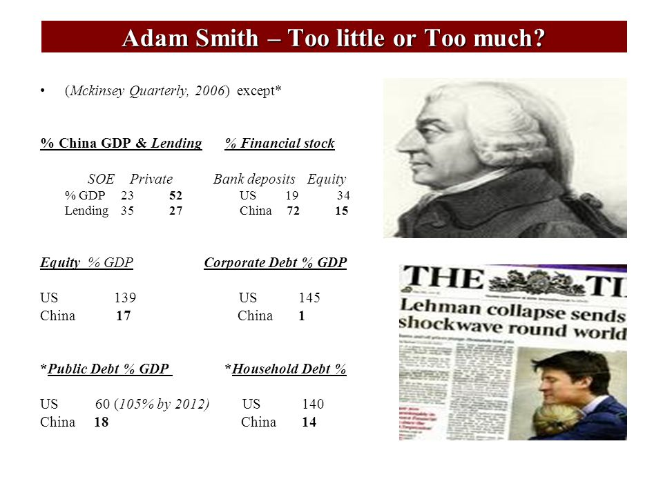 Adam Smith – Too little or Too much