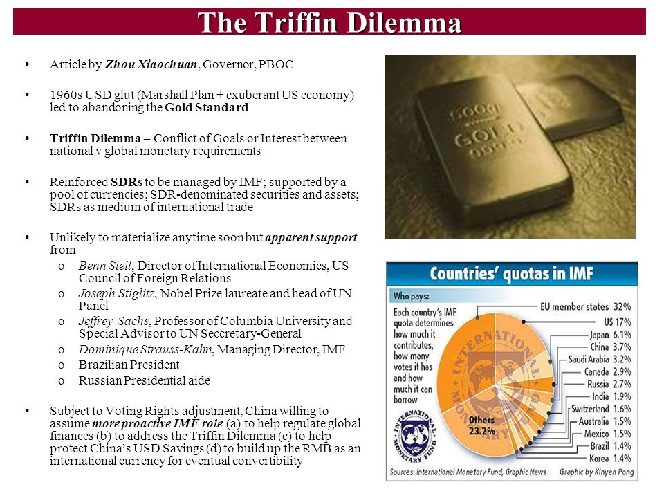 The Triffin Dilemma Article by Zhou Xiaochuan, Governor, PBOC