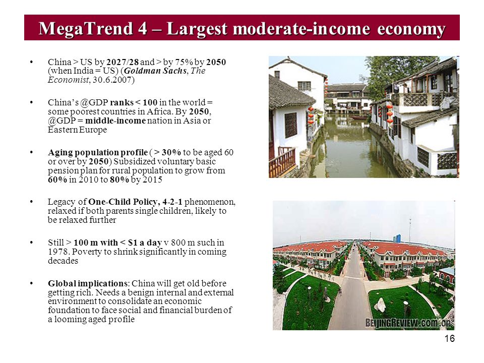 MegaTrend 4 – Largest moderate-income economy