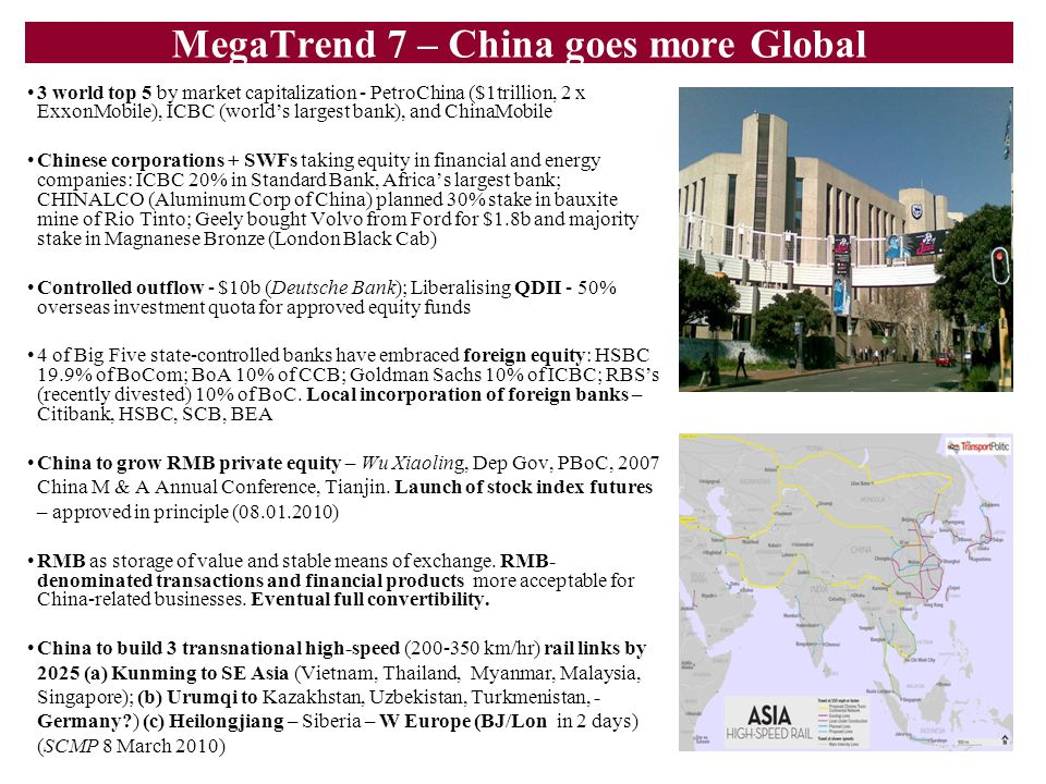 MegaTrend 7 – China goes more Global