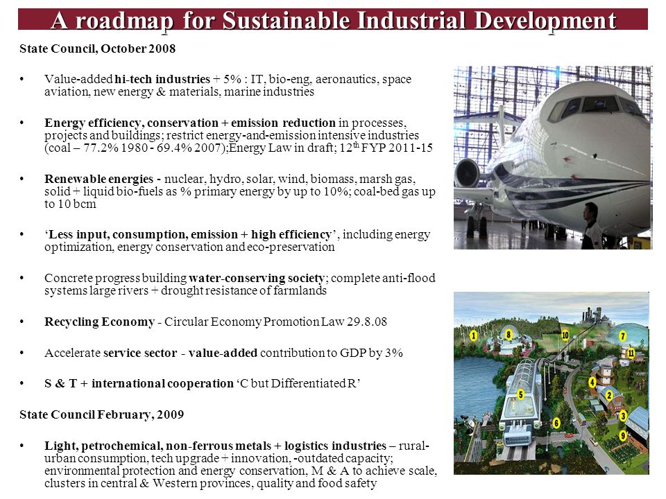 A roadmap for Sustainable Industrial Development
