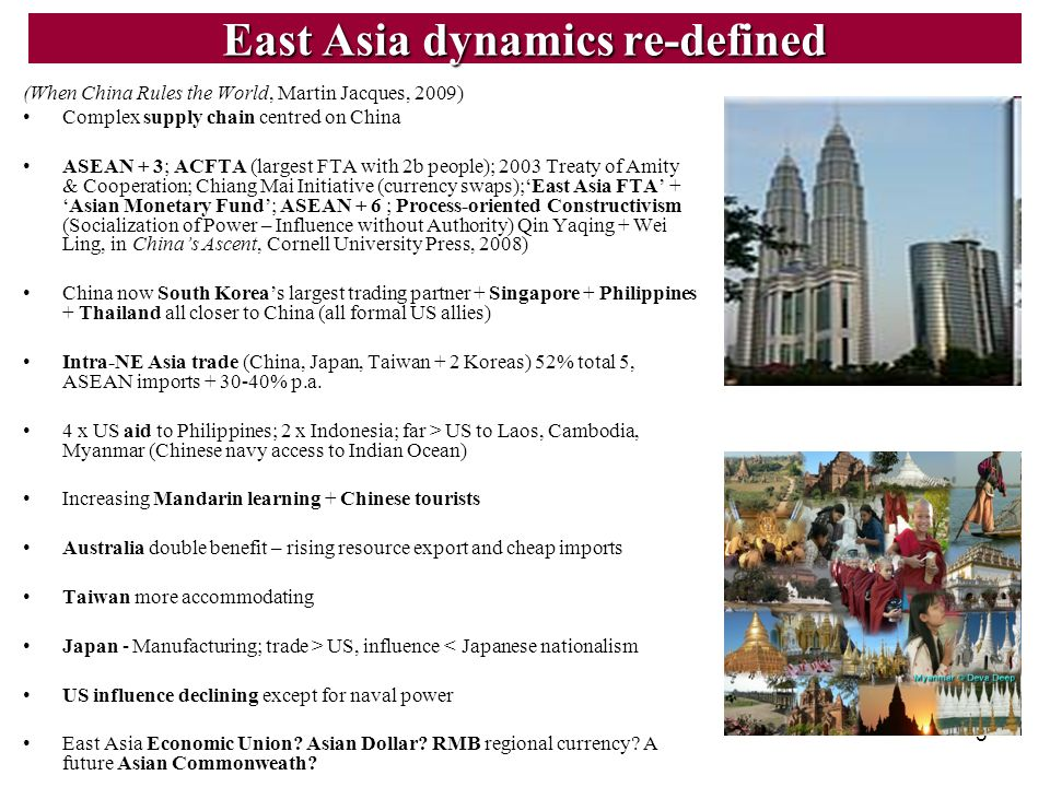 East Asia dynamics re-defined
