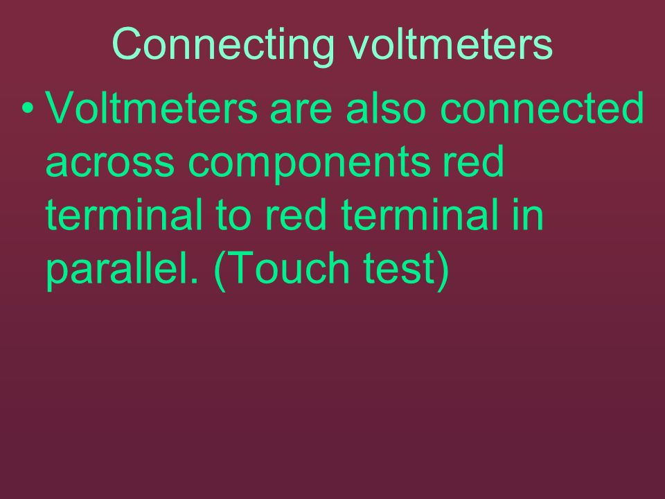 Connecting voltmeters