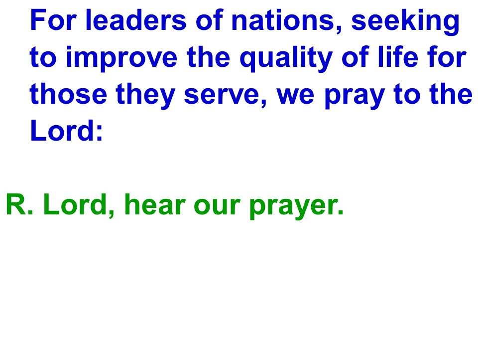 For leaders of nations, seeking