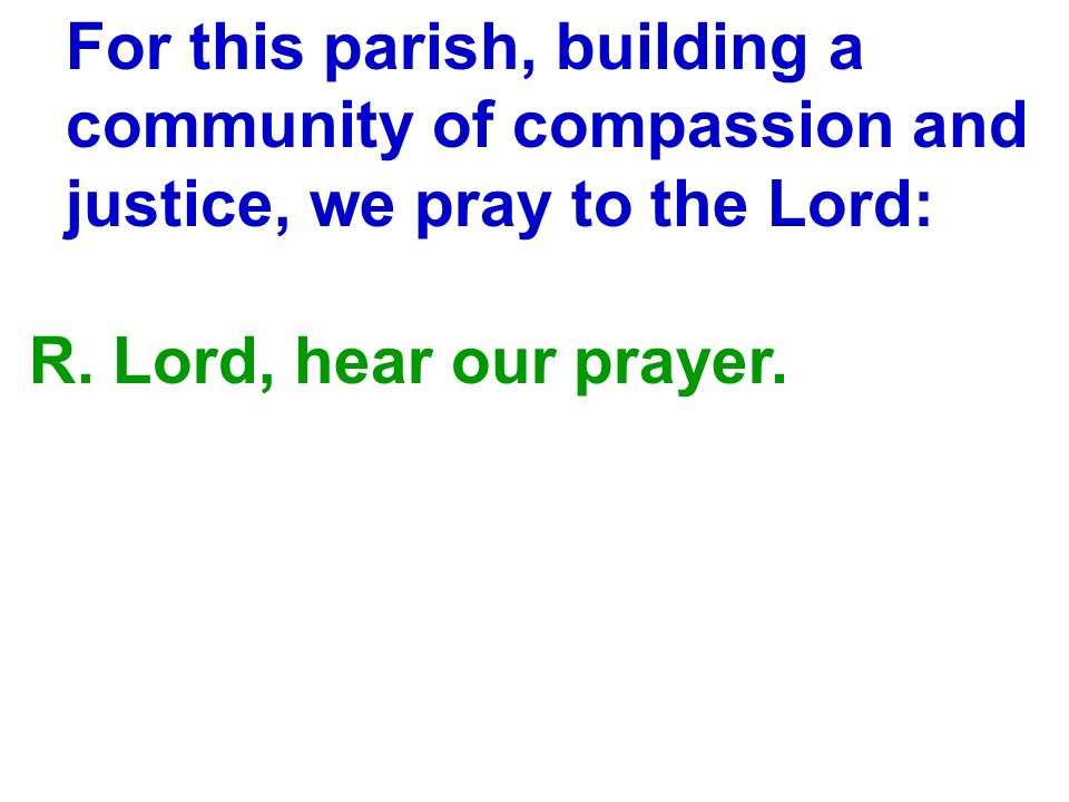 For this parish, building a