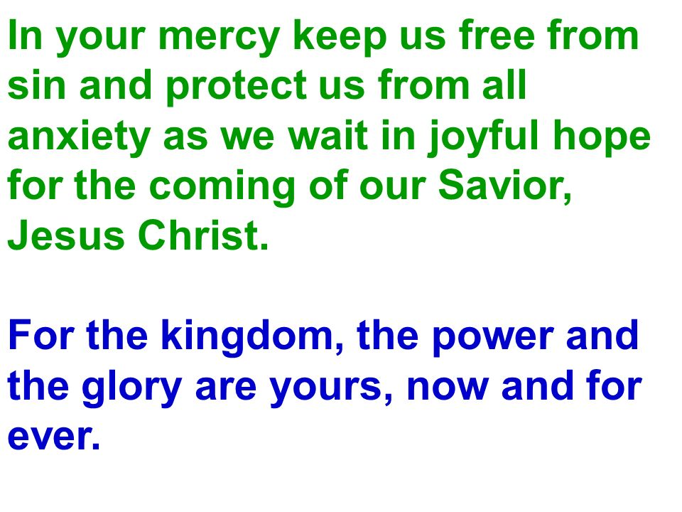 In your mercy keep us free from
