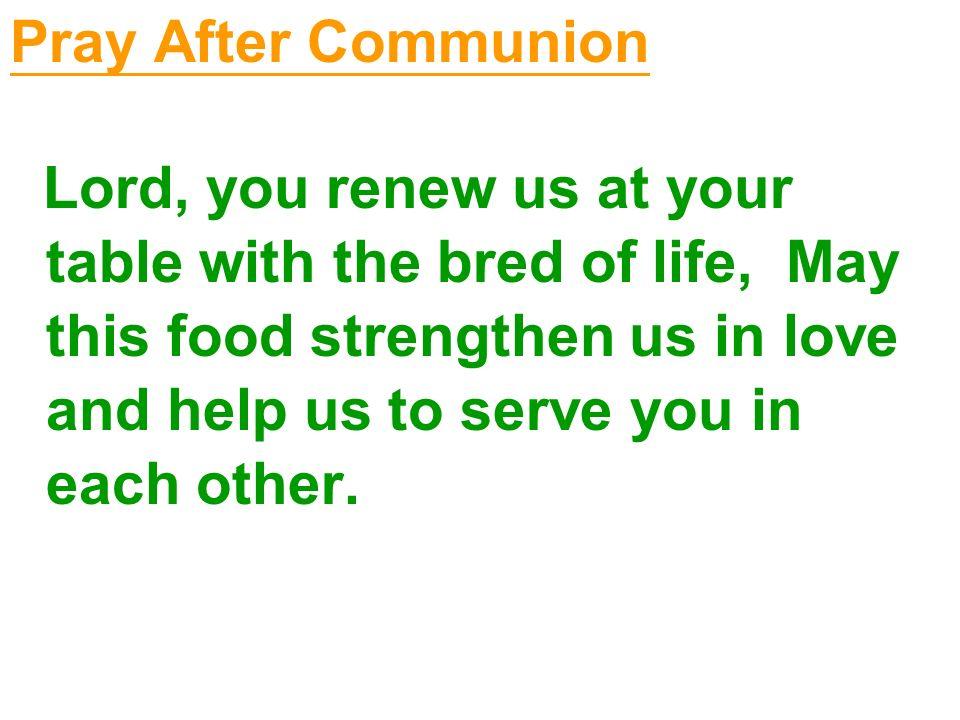 Pray After Communion