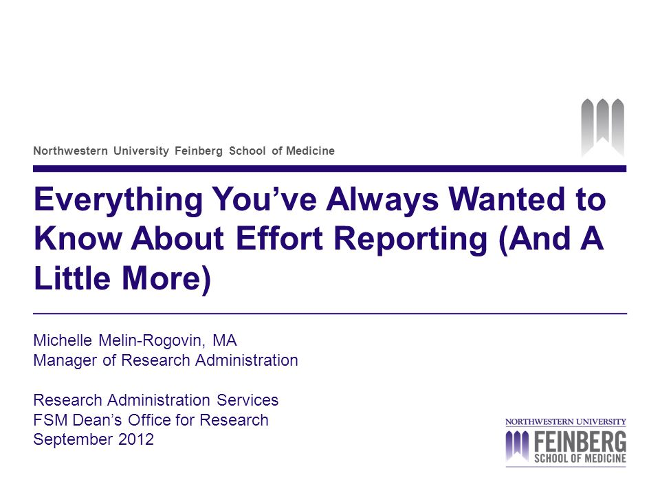 Everything You've Always Wanted to Know About Effort Reporting (And A Little More)