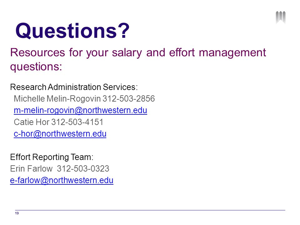 Questions Resources for your salary and effort management questions: