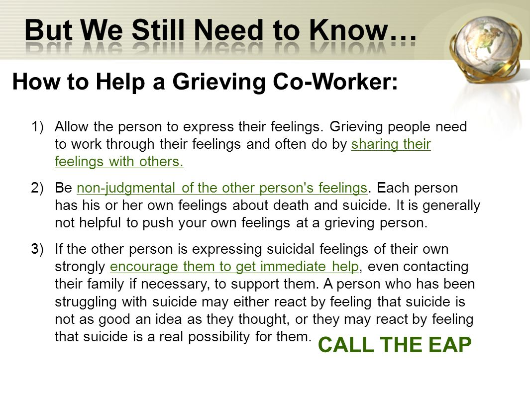 How to Help a Grieving Co-Worker: