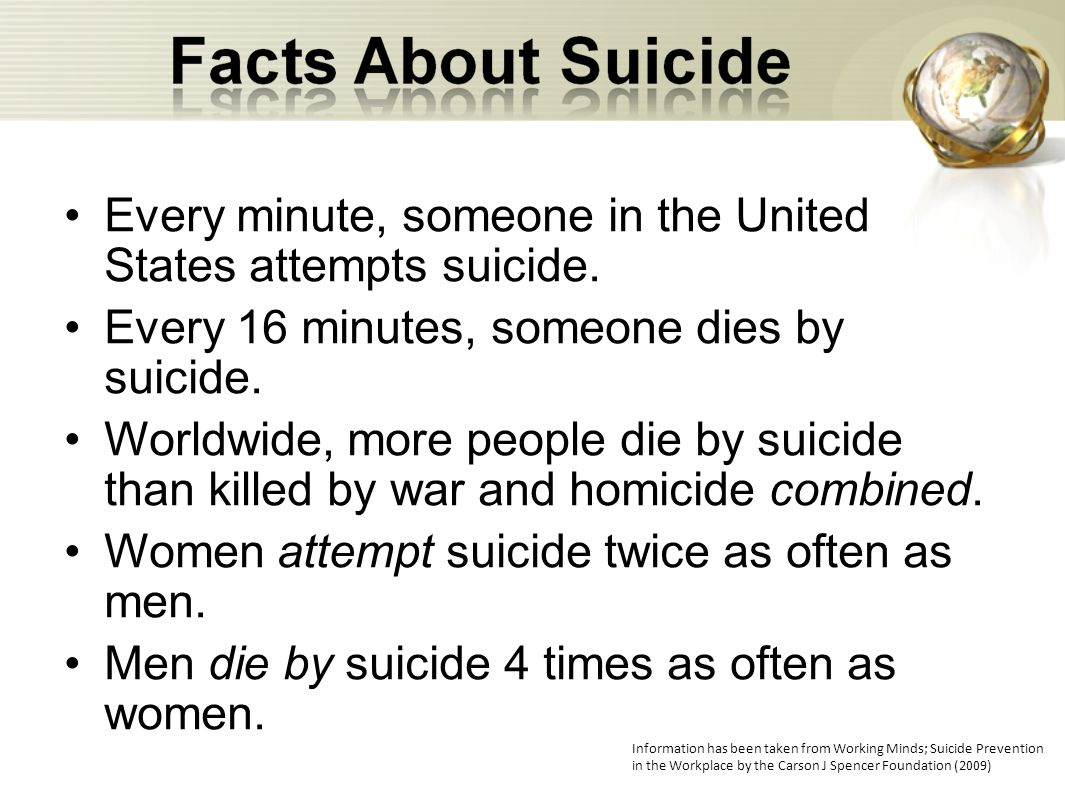 Every minute, someone in the United States attempts suicide.