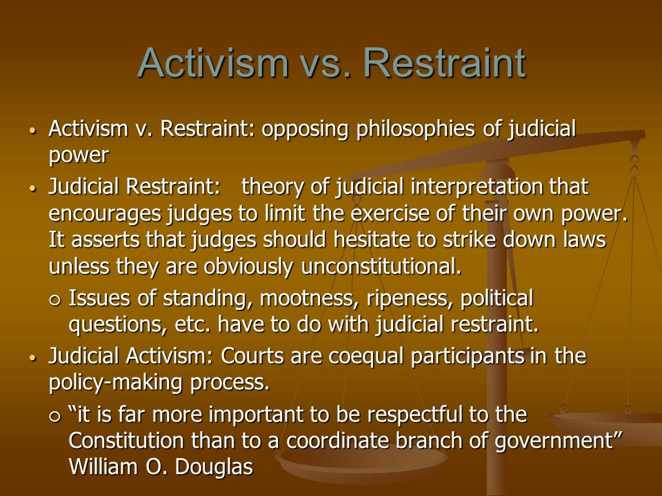 an introduction to the comparison of judicial activism and judicial restraint