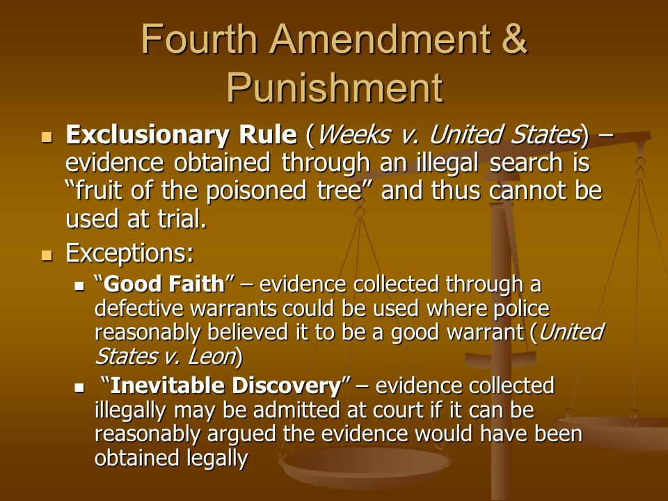 fourth amendment essay The 4th amendment essaysthere were few, if any, provisions of the bill of rights that grew so directly from the experience of the colonials as did the fourth amendment.