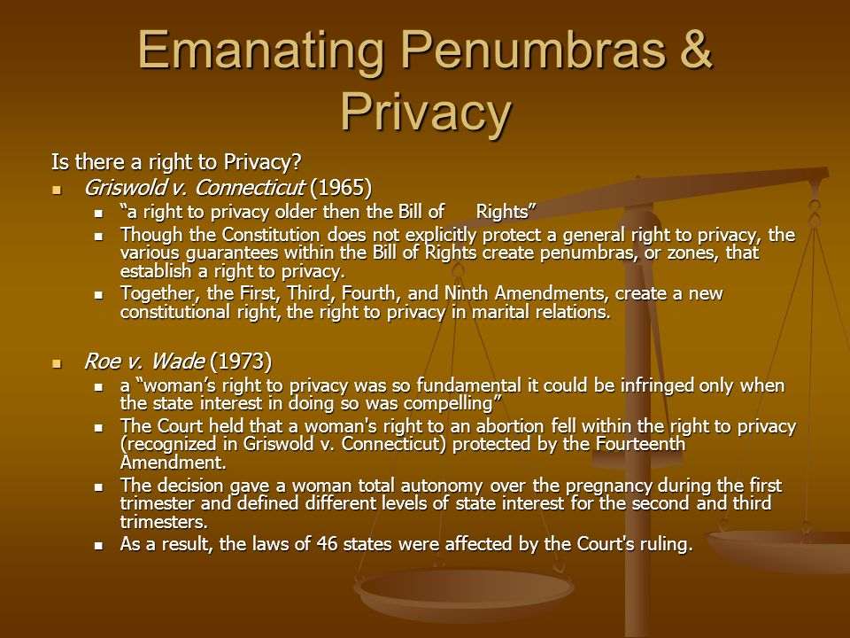Emanating Penumbras & Privacy