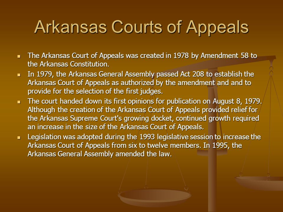 Arkansas Courts of Appeals