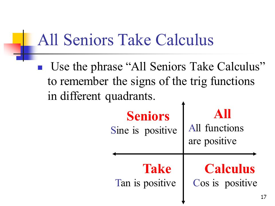 All Seniors Take Calculus