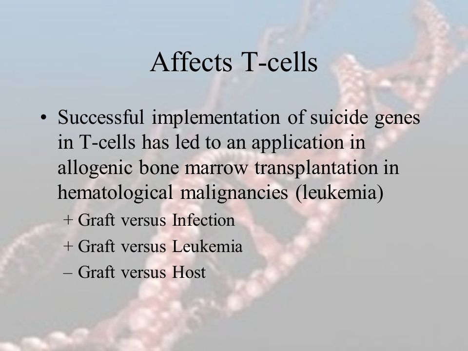 Affects T-cells