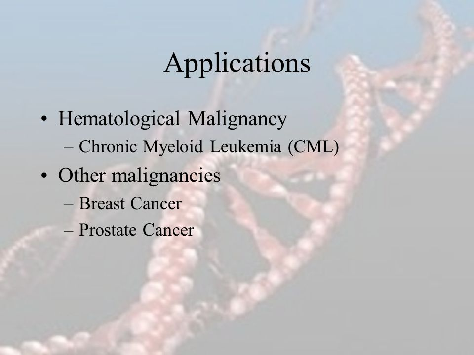 Applications Hematological Malignancy Other malignancies