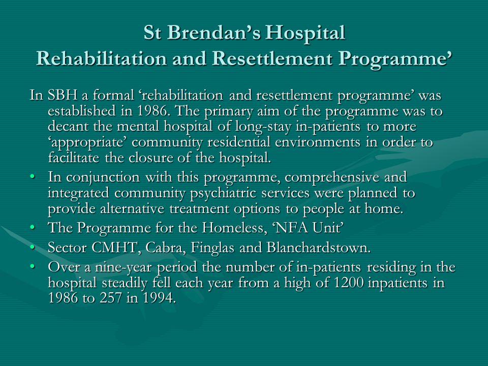St Brendan's Hospital Rehabilitation and Resettlement Programme'