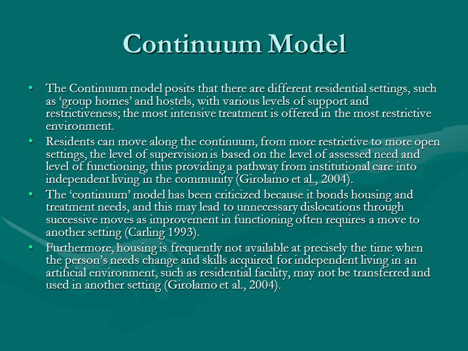 Continuum Model
