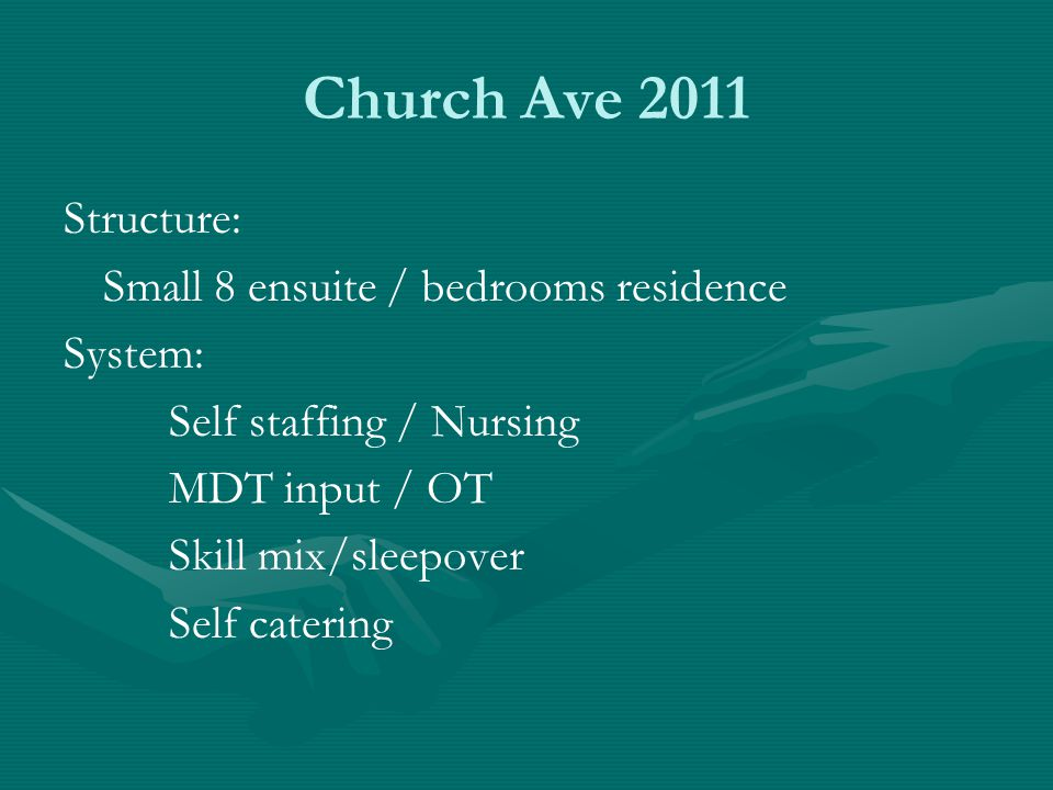 Church Ave 2011 Structure: Small 8 ensuite / bedrooms residence