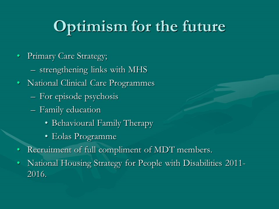 Optimism for the future