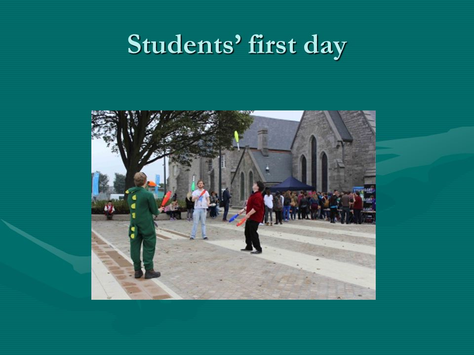 Students' first day