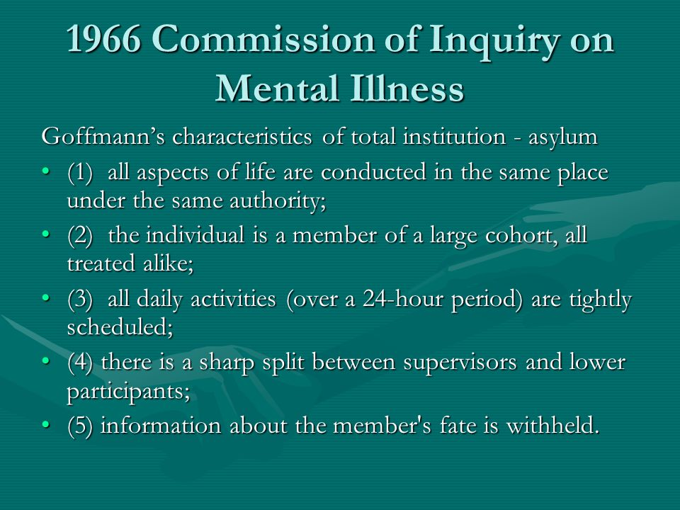 1966 Commission of Inquiry on Mental Illness