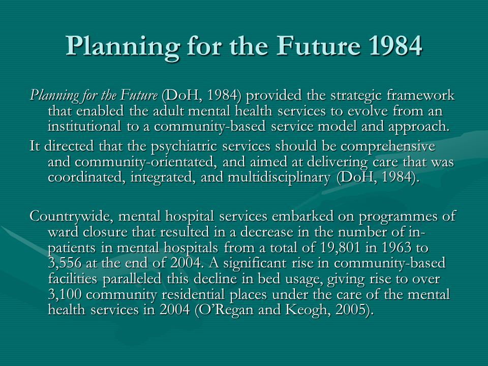 Planning for the Future 1984