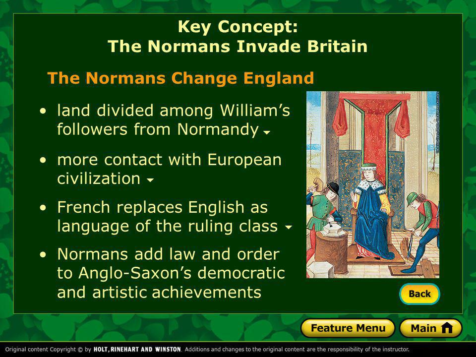 Key Concept: The Normans Invade Britain