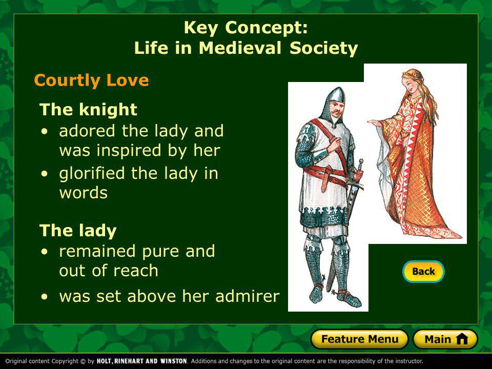 Key Concept: Life in Medieval Society