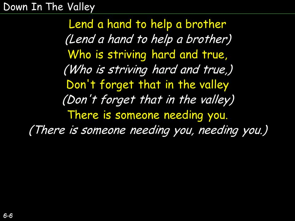 Lend a hand to help a brother (Lend a hand to help a brother)