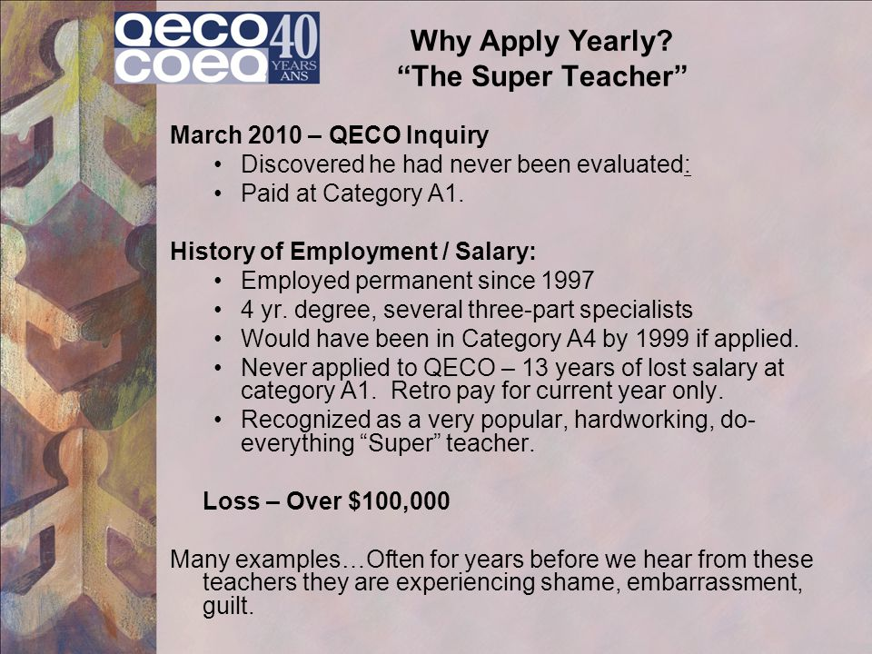 Why Apply Yearly The Super Teacher