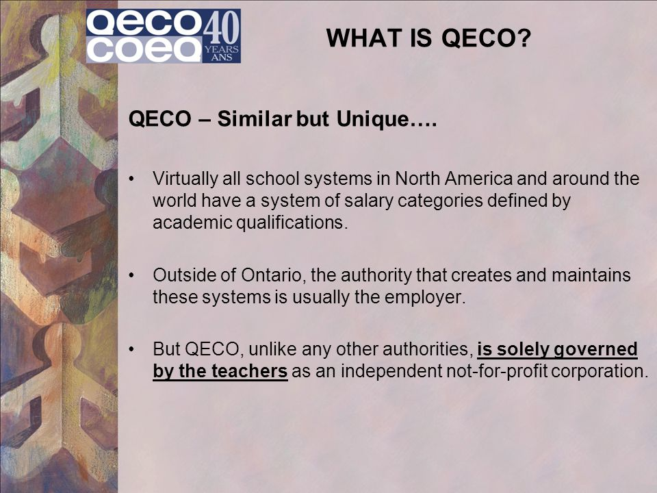 WHAT IS QECO QECO – Similar but Unique….