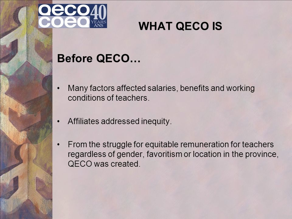WHAT QECO IS Before QECO…